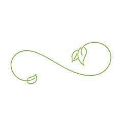 Green monoline calligraphy scandinavian flourish vector