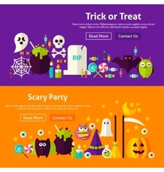 Halloween Party Website Banners vector image