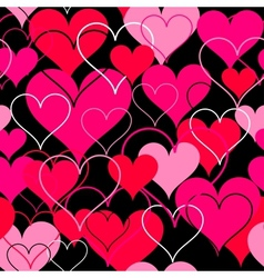 Hearts pink seamless Background vector image