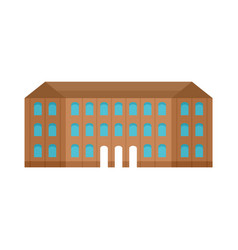 Historical vintage old building icon flat style vector
