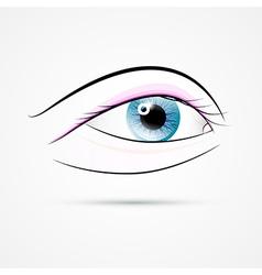 Human Eye Isolated on Grey Background vector image