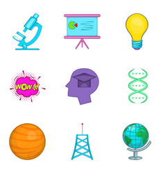 Human intellect icons set cartoon style vector