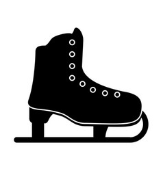 ice skate sport leisure pictogram vector image