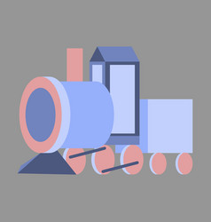 Icon in flat design toy train vector