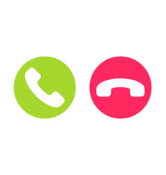 Icon or button handset accept and decline call vector