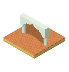 Indian arch icon isometric style vector