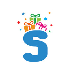 initial gift s vector image
