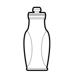 isolated water bottle design vector image