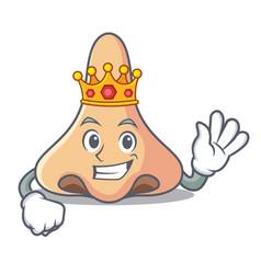 King nose mascot cartoon style vector