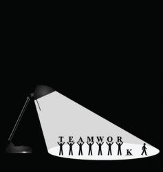 Lamp teamwork vector