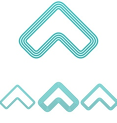 Light blue arrow logo design set vector