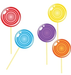 Lollipop candy isolated against background vector