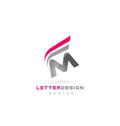 M letter logo design futuristic modern lettering vector