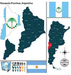 Map of neuquen province argentina vector