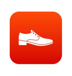 Men shoe icon digital red vector
