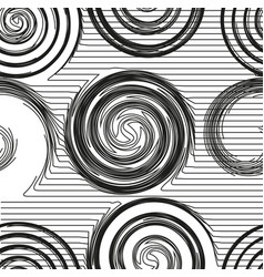 modern trendy minimal waves seamless pattern vector image