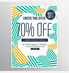 modern trendy sale promotional discount brochure vector image