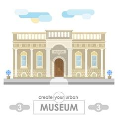 museum building flat design vector image