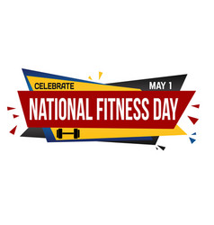 national fitness day banner design vector image