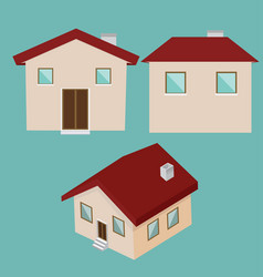 new house architectural background vector image