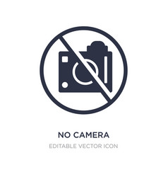 no camera icon on white background simple element vector image