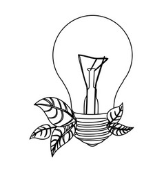 Normal bulbs with leaves icon vector