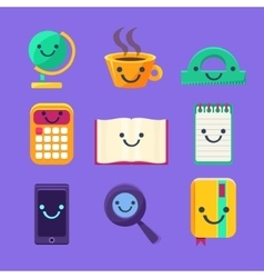 Office Desk Supplies Set Of Characters vector