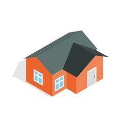 Orange house icon isometric 3d style vector