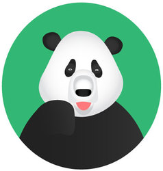 Panda icon mobile app vector image