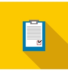Paper sheet document icon flat style vector image
