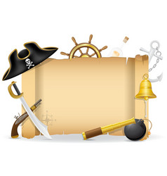 Pirate concept icons 02 vector