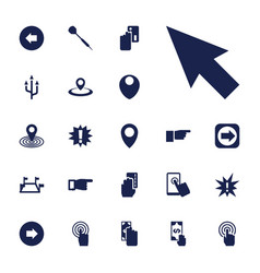 Point icons vector