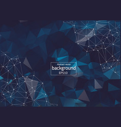 poly polygon dark blue backgrounds fabricate with vector image