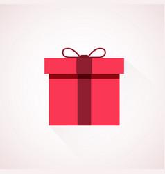 Red flat present box concept vector