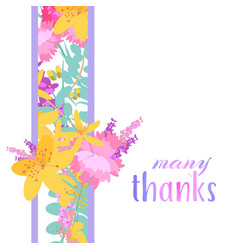 Retro style with flowers vector