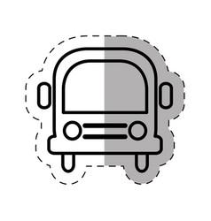 School bus thin line vector