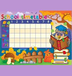 School timetable composition 2 vector
