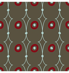 Seamless abstract pattern on brown background vector image