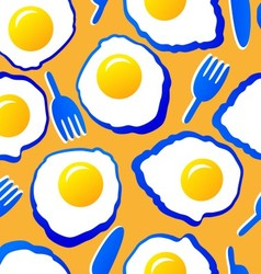 Seamless pattern with scrambled eggs vector image