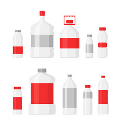 set plastic bottles vector image