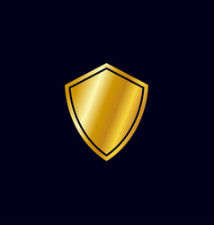 Shield gold icon vector