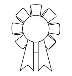 st patricks day rosette ornament icon thin line vector image