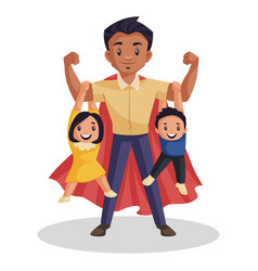 Super dad cartoon vector