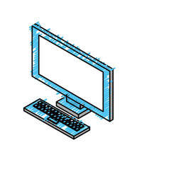 Technology computer to social information connect vector