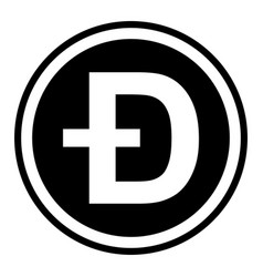 Token symbol dogecoin cryptocurrency vector