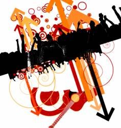 urban music design vector image