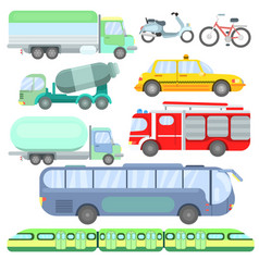 vehicles on which vector image