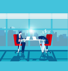 Working efficiently office workplace concept vector
