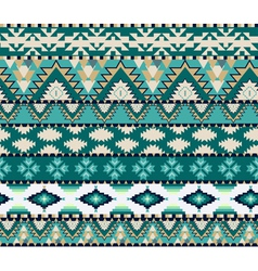 Aztec seamless pattern on cold color vector image vector image