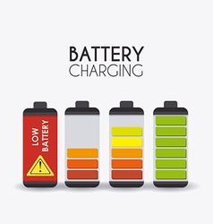 Battery design vector image vector image